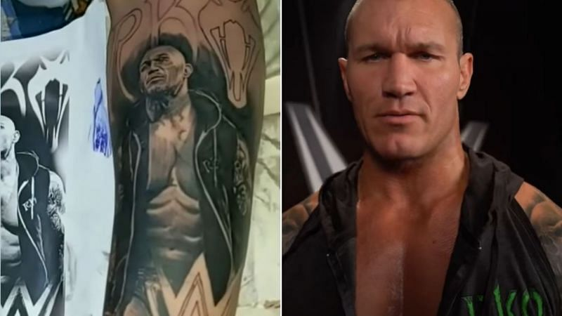Randy Orton sent a message to a fan with an RKO tattoo