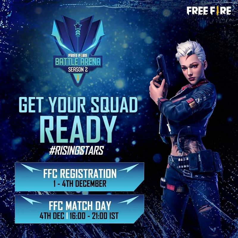 Free Fire Battle Arena Season 2 Registration Process Format And Schedule Announced