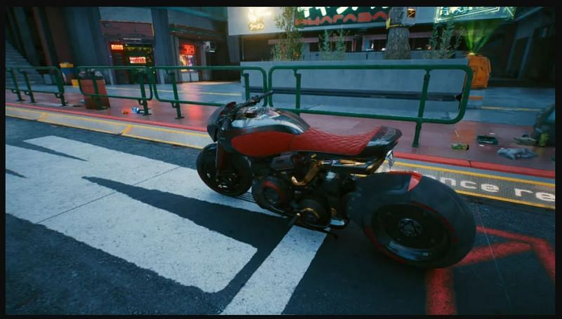 The Arch Nazare can be acquired for free and is one of the fastest bikes in the game.. (Image via CD Projekt RED)