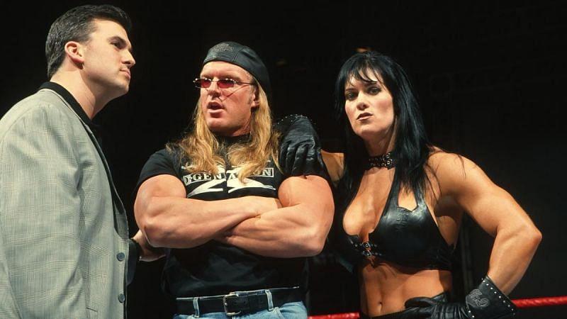 Chyna debuted in WWE alongside Triple H