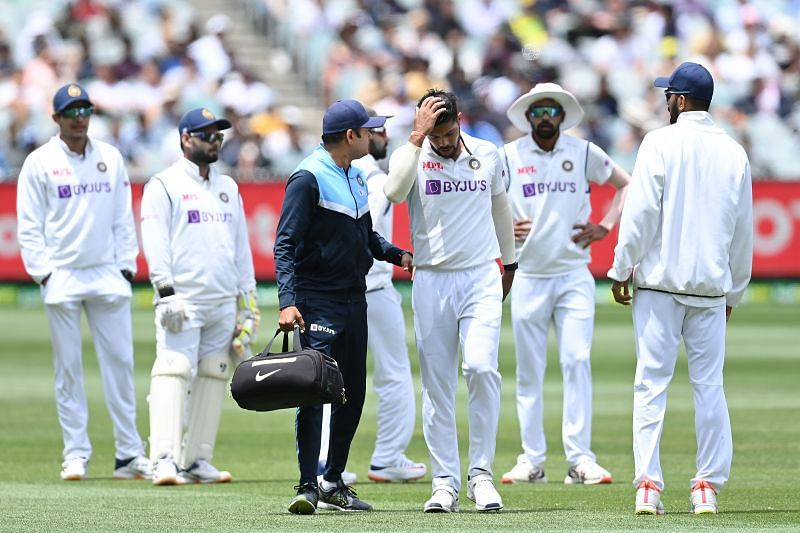 Umesh Yadav walked off on Day 3 with a calf muscle injury.