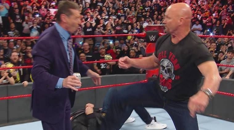 "Vince McMahon being ""Stunned"" by Stone Cold Steve Austin"