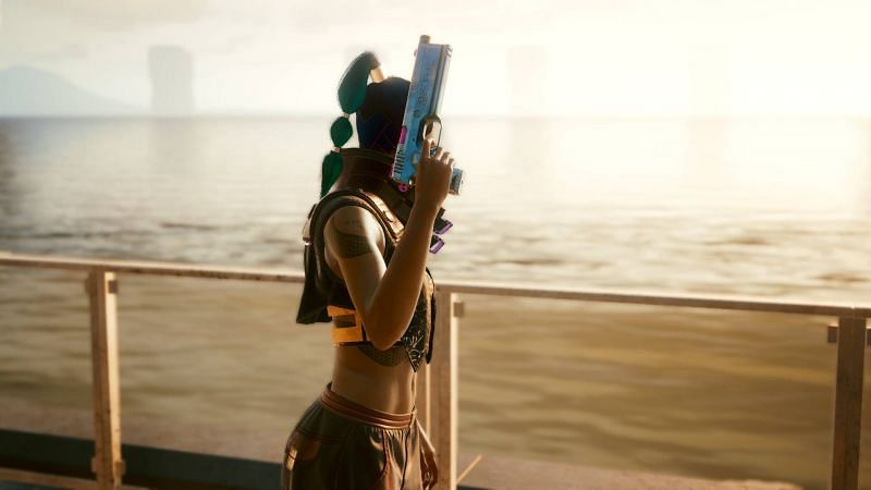 There are a ton of iconic weapons in Cyberpunk 2077 (Image via CD Projekt RED)