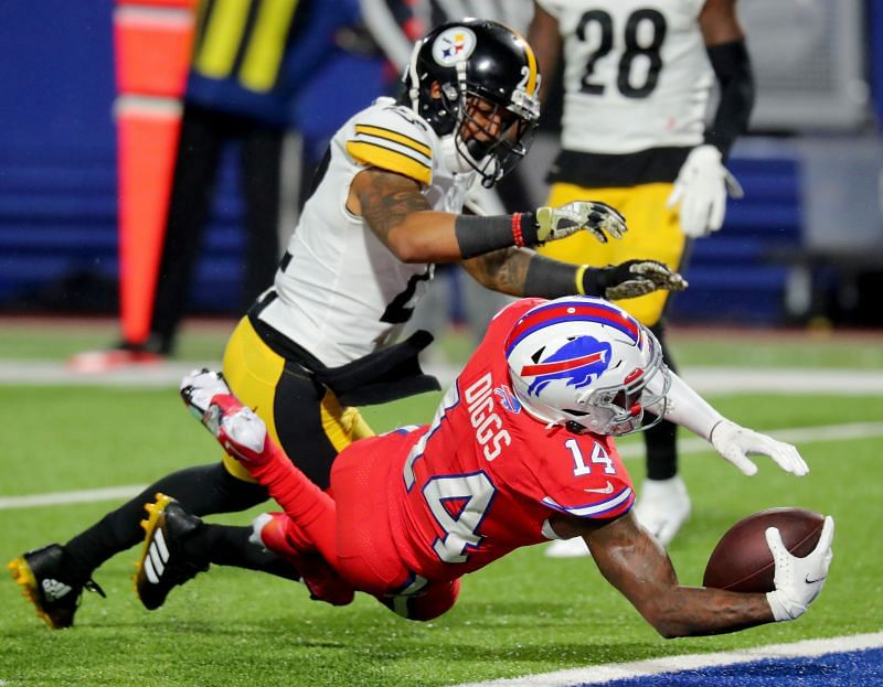Buffalo Bills WR Stefon Diggs Scored a Touchdown On Sunday Night Football Against The Pittsburgh Steelers