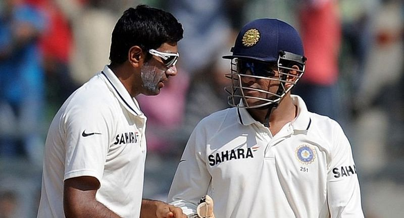 Ravichandran Ashwin made his Test debut under MS Dhoni and picked up nine wickets against West Indies