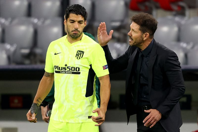 Luis Suarez and Diego Simeone