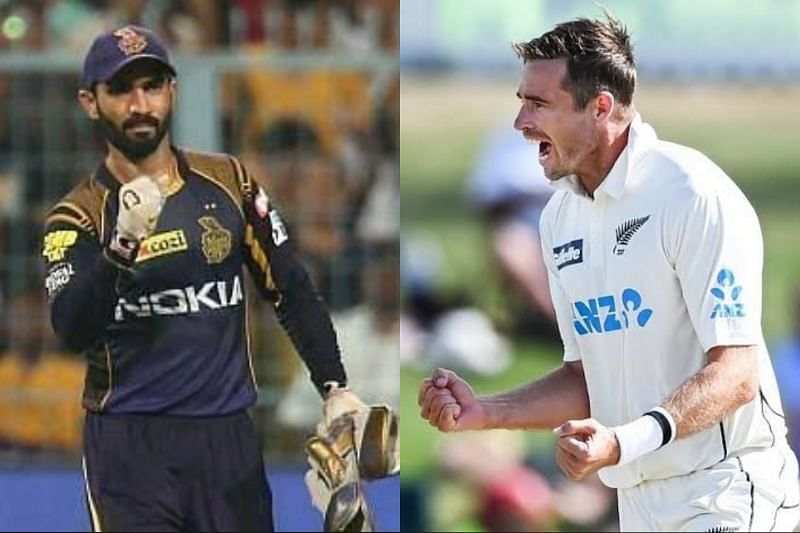 Dinesh Karthik congratulated Tim Southee on Instagram
