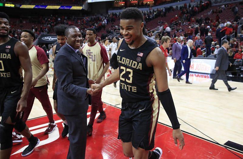 MJ Walker celebrates a Florida State Seminoles victory