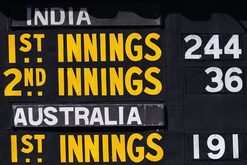 The Indian cricket team managed only 36 runs in the second innings against Australia.