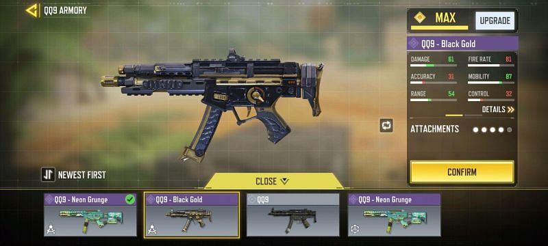 Black Gold QQ9 - Image via Call Of Duty Mobile
