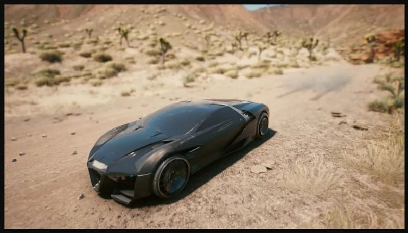 With 1600 BHP, this is the fastest car in the game. (Image via CD Projekt RED)