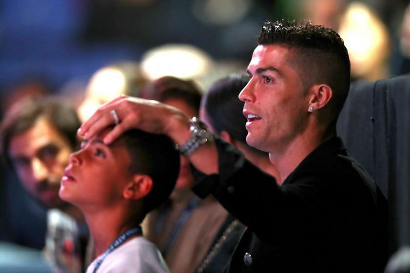 Cristiano Ronaldo with his son