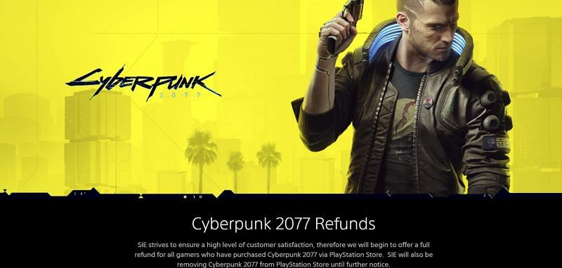 Cyberpunk 2077 was dealt yet another blow after being de-listed from the PlayStation Store by Sony (Image via PlayStation)