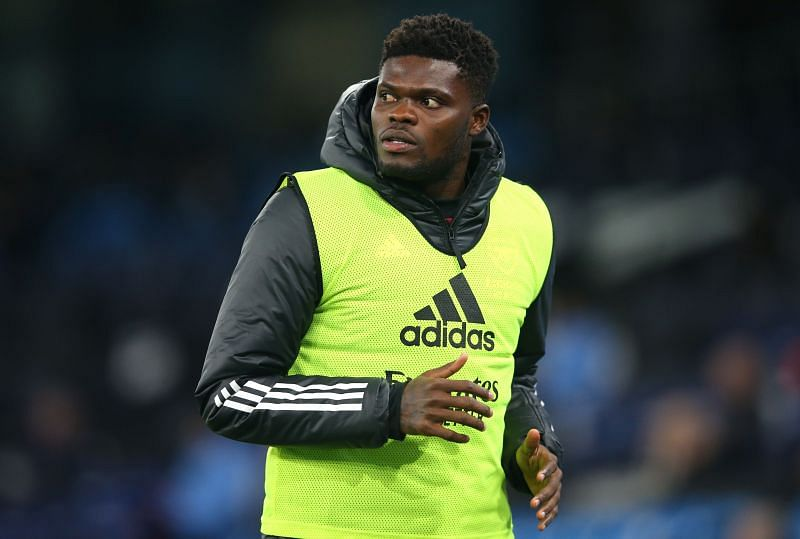 Partey was subbed off in the first half against Tottenham