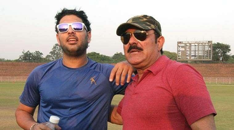 Yuvraj Singh and Yograj Singh