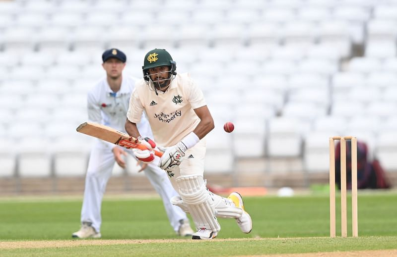Haseeb Hameed in action for Nottinghamshire earlier this year