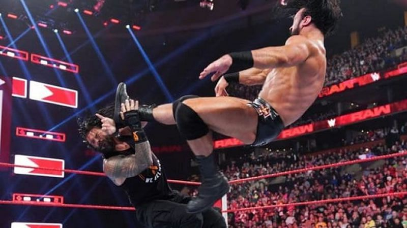 How did Drew McIntyre come up with the Claymore Kick?