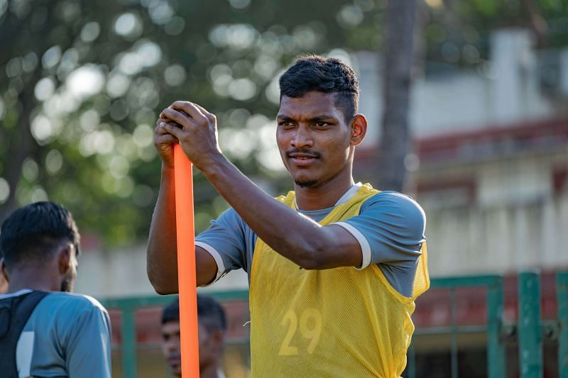 Devendra Murgaonkar during training at FC Goa. (Image: FC Goa)