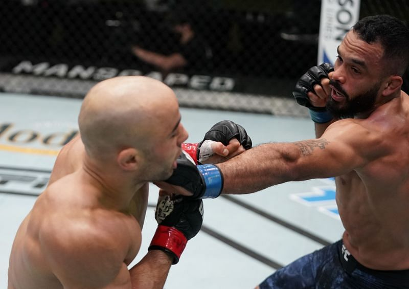 Rob Font stopped Marlon Moraes in the first round of their UFC Vegas 17 bout
