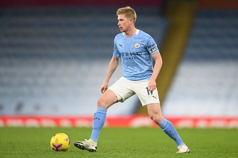 De Bruyne in action for City