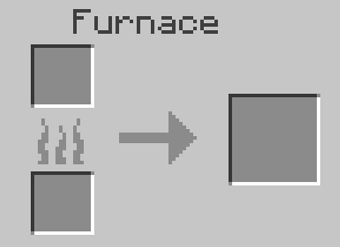 Smooth stone is made by double smelting cobblestone in a furnace