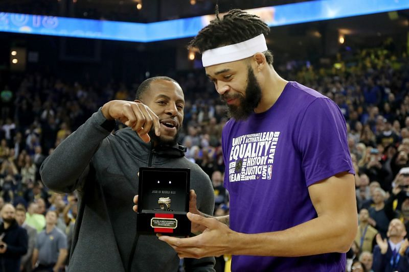 JaVale McGee during his Golden State Warriors Ring Ceremony