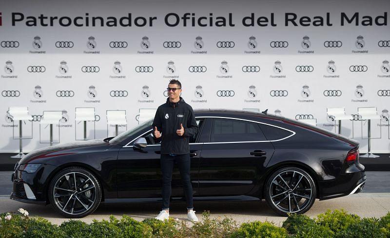 Cristiano Ronaldo during the Real Madrid Audi Car Handover