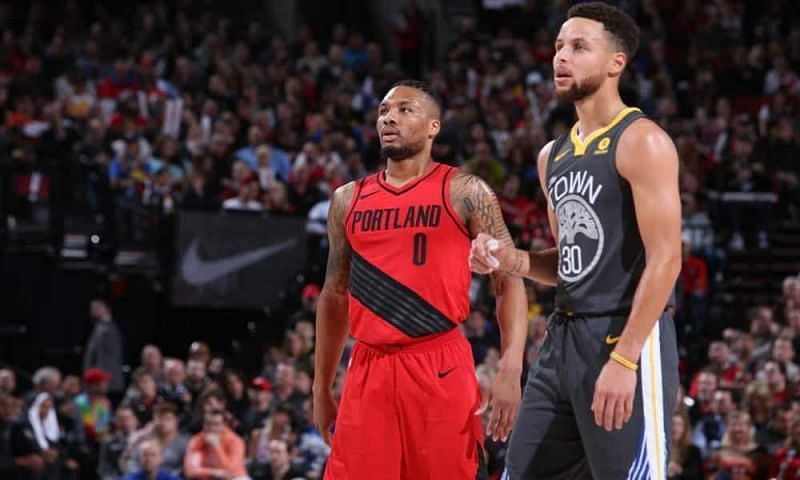 Stephen Curry and Damian Lillard