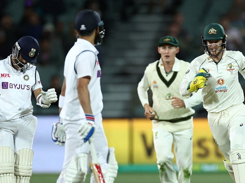 Virat Kohli was run out on 74 in the first innings against Australia.
