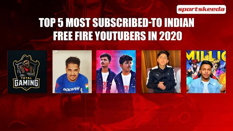 Top 5 most subscribed-to Indian Free Fire YouTubers