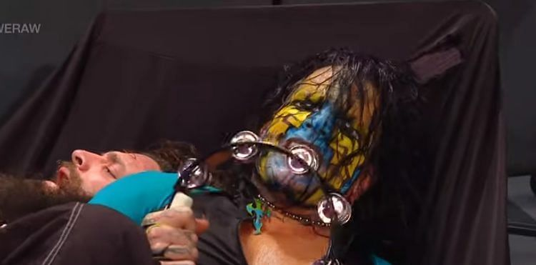 Jeff Hardy banged his head against the steel steps on RAW