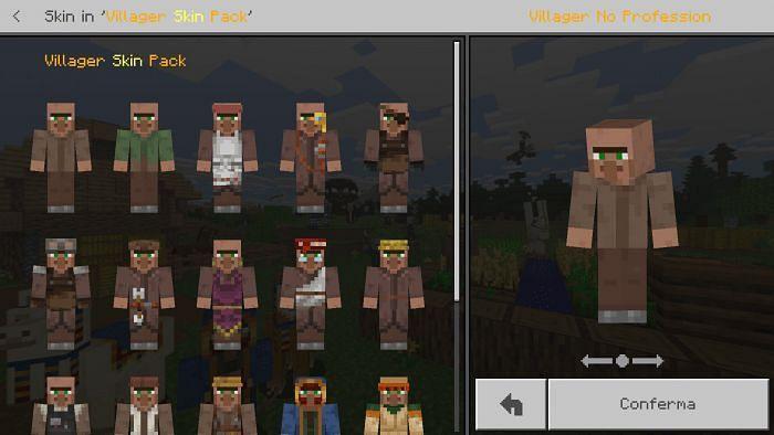 Minecraft Villagers Skin Pack