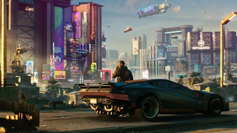 Being an open-world game, Cyberpunk 2077 features a lot of cars for players to travel around (Image via CD Projekt RED)