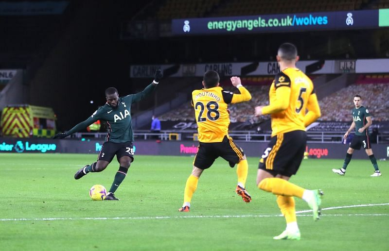 Tanguy Ndombele opened the scoring for Tottenham after just one minute