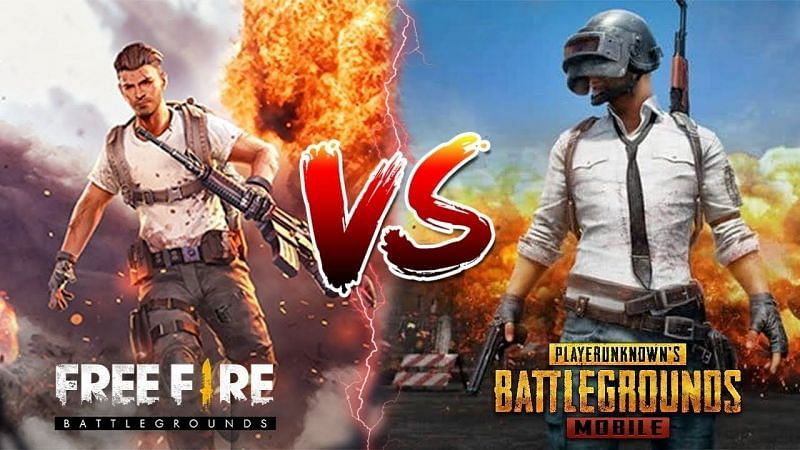 Comparing PUBG Mobile and Free Fire in terms of graphics (Image via Senhor Bravo/YouTube)