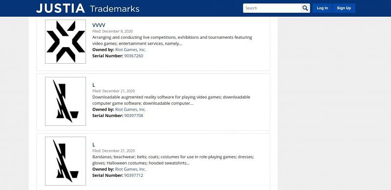 Screengrab via trademarks.justia.com