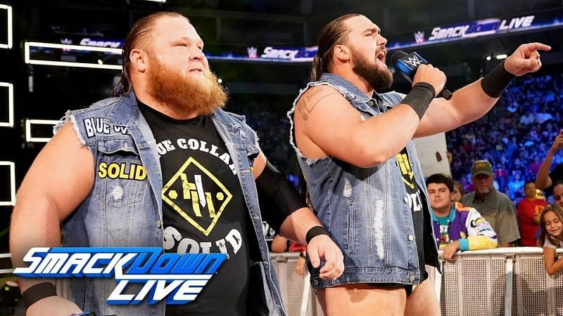 Otis and Tucker teamed together on SmackDown