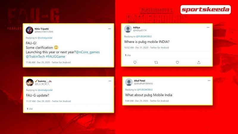 Fans have been eagerly waiting for the release of PUBG Mobile and FAU-G in India.