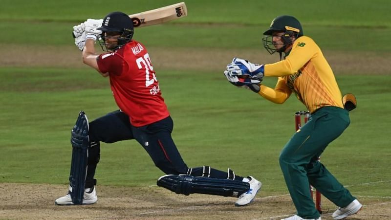 Dawid Malan in action during his unbeaten 99. Pic: ICC/Twitter