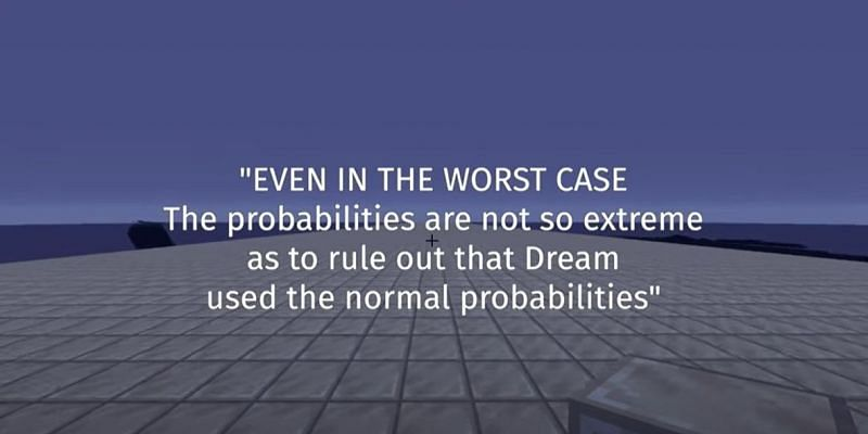 The expert found that Dream could have had the luck he did in his Minecraft speedrun under normal conditions. (Image via DreamXD/YouTube)