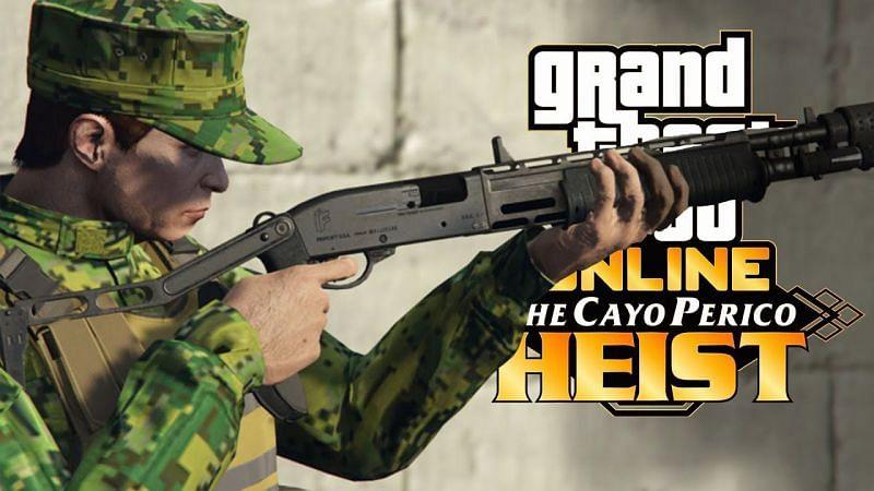 The combat shotgun from the Cayo Perico update (image via CentralGamingHub, YouTube)