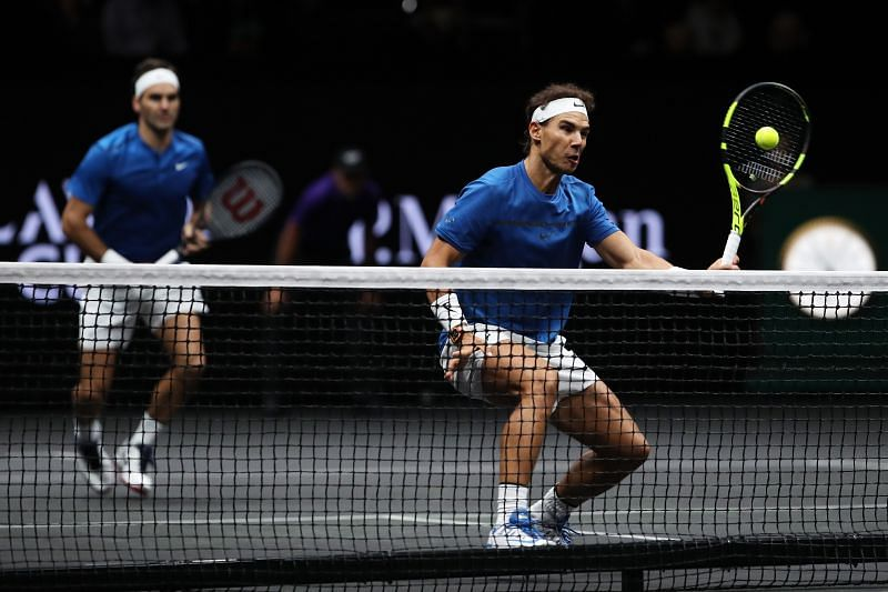 Roger Federer and Rafael Nadal at the Laver Cup