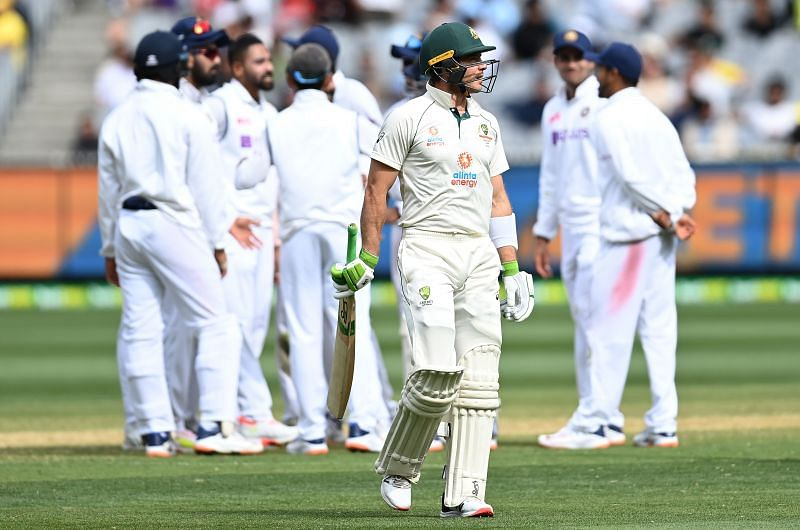 Ravindra Jadeja dismissed Tim Paine early in the second innings.