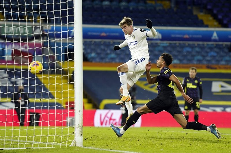 Patrick Bamford opens the scoring for Leeds United against Newcastle