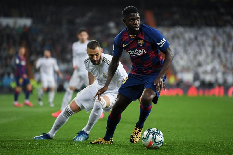 Samuel Umtiti has fallen down the pecking order at Barcelona