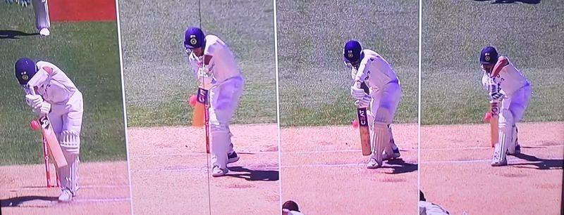 A collage of Indian batsmen's dismissals at Adelaide. Pic: Twitter