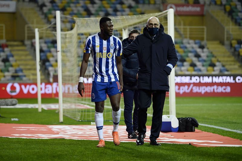 Chancel Mbemba was injured in Porto