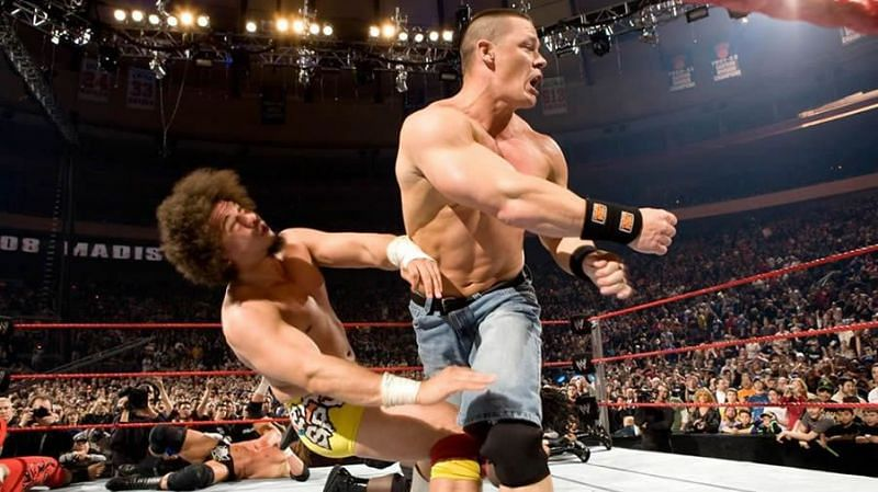 Carlito and John Cena go head-to-head at the 2008 edition of the Royal Rumble