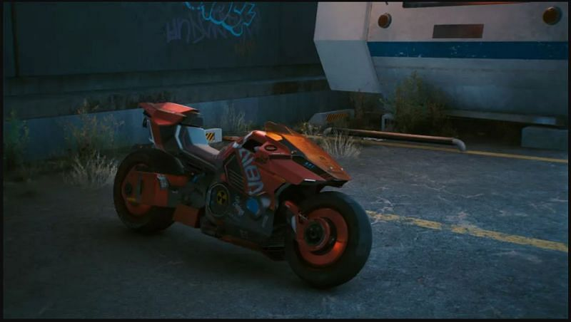 This is probably the fastest bike in Night City and is available quite early in the game (Image via CD Projekt RED)