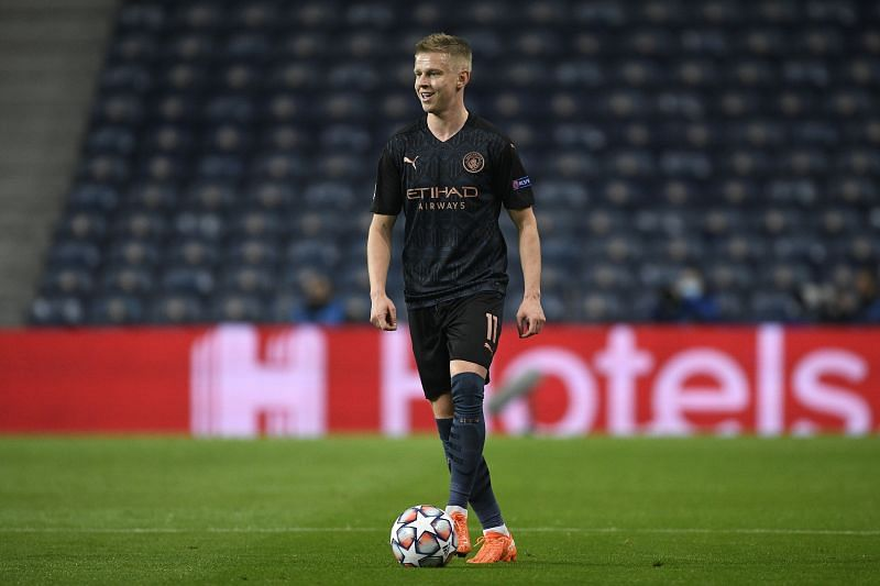 Zinchenko is unlikely to play a part against Arsenal